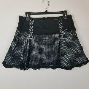 Tripp NYC black Web corset mini skirt